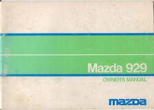 Mazda 929 Saloon Hardtop Estate 1973-75 Original Owner's Handbook No. 582 7710
