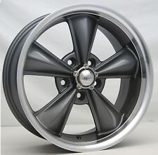 "17"" Anthracite MD Classic Wheels (4) 17x7 5x120.65 5 Spoke Rims Corvette 68-82"