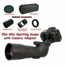 20-60x 60a 2000mm 6000mm Telescope for Canon Rebel EOS EF T6i X8i Digiscoping