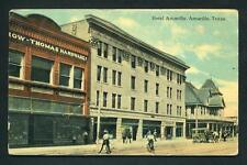 Vintage ~ Antique 1912 Postcard of Downtown Amarillo Texas ~ Full Color