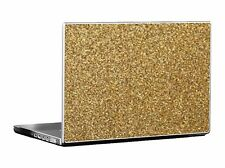 Tufkote Laptop Skin Decal GOLDEN Sandy Glitter Finish Free Size fits all