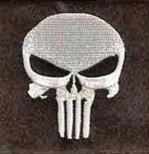 Iron On/ Sew On Embroidered Patch Badge Skull Punisher The punisher Square