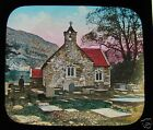 Glass Magic lantern slide BETWS-Y-COED CHURCH C1890 WALES