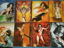 Vampirella Base Completo Conjunto de 72 tarjetas comerciales de arte de fantasía dinamita Breygent