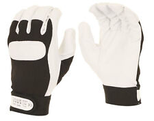 Velcro Cuff Drivers Work Leather Gloves Size 9/L