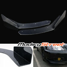 ARC RACING STYLE REAL CARBON FIBER FRONT BUMPER LIP KIT DIFFUSER/CANARD/SPLITTER