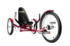 "MOBO Cruiser ""Triton Pro"" Cot Bike Tricycle - Recumbent Red"