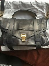 Authentic Proenza Schouler Medium PS1 Bag in Midnight Blue Leather