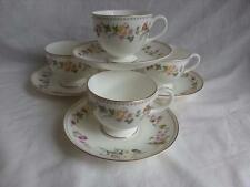 Wedgwood Mirabelle 4 x Tea Cups and Saucers - round shape