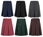 Girls Ex M&S Grey, Black, Navy, Brown, Burgundy School Skirt Ages 3-16 Yrs 0112