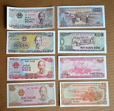 Vietnam  banknotes. 200, 500, 1000, 2000 Dong SET 4 NOTE UNC CURRENCY  MONEY