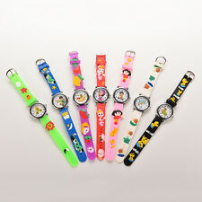 New White Cute Cat Silicone Cartoon Wrist Watch For Kids Children Lovely GGQ