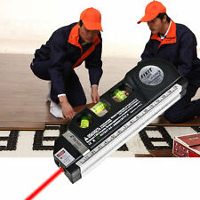 Laser Level Horizon Vertical Measure 8FT Aligner Standard and Metric Ruler#DB