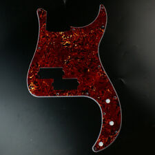 Custom Precision Bass PB style bass Guitar Pickguard 13 Hole ,4ply Red Tortoise