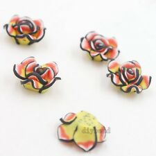 20pcs Colorful Rose Flower Shape FIMO Polymer Clay Spacer Beads Accessories D