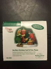 """Dept 56-Dickens- A Victorian Christmas-""""One More Christmas Card To Post, Please"""