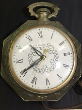 Vintage 1950'S United Electric Wall Clock Pocket Watch Style Model 365 (works)
