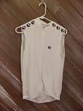 Pearl Izumi Cycling Jersey Zip Up Sleeveless Men's White, Size Large, S