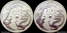 2017 Perth Mint Phoenix and Dragon (error/variety) 1oz silver