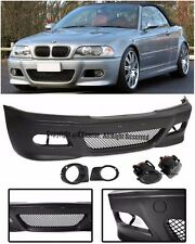 For 99-05 BMW E46 M3 Style Front Bumper Fluted Clear Fog Lights OE Lamp Covers