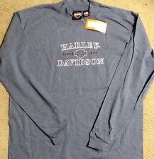 Harley Davidson Long Sleeve Mock Shirt NWT  Men's Medium