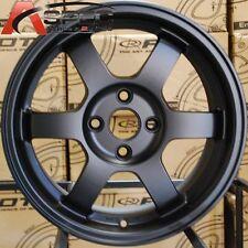 16X7 ROTA GRID WHEELS 4X100 FLAT BLACK RIMS FITS 4 MIATA CIVIC INTEGRA FIT CRX
