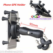 Motorcycle Bikes X-Shape 6 Feet Cell Phone GPS Mount Holder For iPhone & Samsung