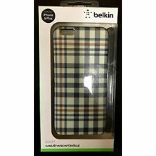 Belkin iPhone 6 Plus Case Red White And Blue Plaid Cover Very Good 6D