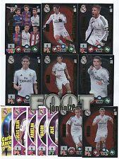 R. MADRID  Adrenalyn 2014-15 inc: 3 Balón oro+ 5 supercracks +Actual ...40 cards