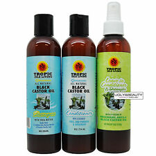 Tropic Isle Living Jamaican Black Castor Oil Shampoo, Conditioner and Leave-In
