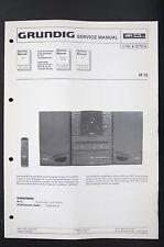 GRUNDIG M 16 Originale Manuale di Servizio/manuale servizio/Schema elettrico/