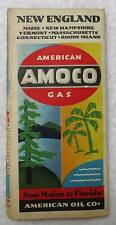 1934 AMOCO AMERICAN OIL CO HIGHWAY TRAVEL ROAD MAP OF NEW ENGLAND #18