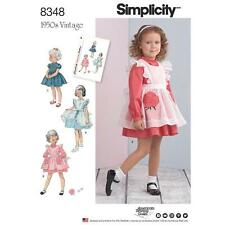 SIMPLICITY SEWING PATTERN TODDLERS' 1950s VINTAGE DRESS & PINAFORE 1/2-4 8348