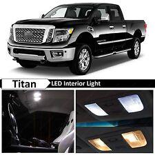 19x White Interior LED Lights Package Kit 2004-2016 Titan Truck