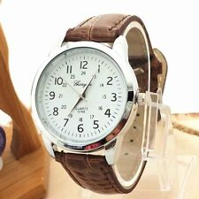 Hot Fashion Mens Watch Luxury Sports Leather Strap Analog Quartz Wrist Watches