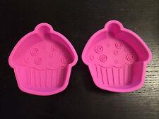 Juego de 2 Cupcake Silicona Moldes Para Tartas Horneado Decoración Betterware