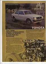 Original 1981 Toyota Corolla Tercel Magazine Ad - A Car For All Seasons