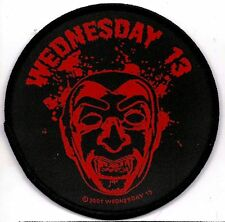 WEDNESDAY 13  Bloodsucker round vintage  sew on  patch
