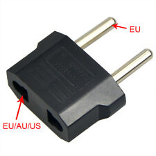 2x Reise Stecker Adapter US USA, AU, EU to EU Euro Europe