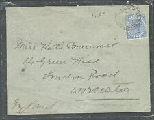 GIBRALTAR (P2908B) QV 2 1/2D ON 1898 MOURNING COVER TO ENGLAND