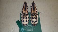 "NEW! $495 Stubbs & Wootton Needlepoint & Leather ""CANE "" Loafers Slippers Shoes"