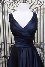 L60 BILL LEVKOFF 034 167 SZ 12  $190 NAVY COCKTAIL BRIDESMAID PARTY GOWN DRESS