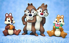 Disney Chip N Dale Chipmunk Pair & Sitting Baby PVC Figure Toys Cake Topper Lot