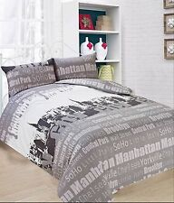 "NEW DESIGN "" NEW YORK "" DOUBLE SIZE DUVET SET Inc Duvet cover  2 x pillow cases"