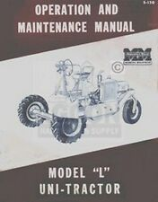 Minneapolis Moline L Uni Tractor Operator Maint. Manual