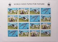 World Wide Fund for nature stamp sheet, Tristan da cunha, SG ref: 651-54, MNH