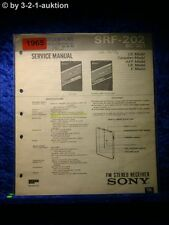 Sony Service Manual SRF 202 Receiver (#1965)