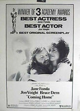 RARE 30x40 Movie Poster 1978 COMING HOME Academy Award