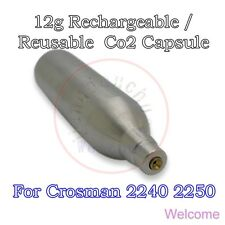 12g Rechargeable / Reusable Co2 Cartridge Capsule for Airgun Air Rifle Crosman