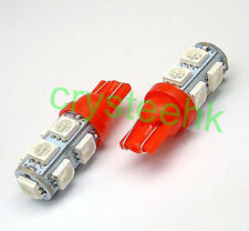 2 x T10 194,168,2825, 9 x 5050 SMD LED RED Super Bright Car Lights Lamp Bulb